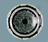 Elegance Silver 89793 Romantica Collection Round Silver Plated Tray, 15