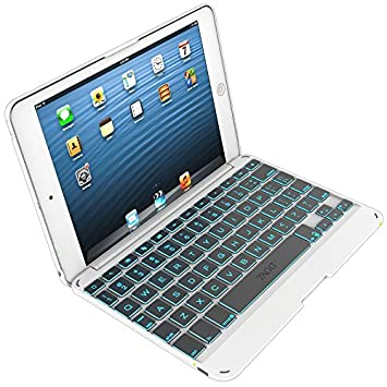 Zagg AGGkeys Folio Bluetooth QWERTY Blanco teclado para móvil - Teclados para móviles (Blanco, Apple, iPad mini, QWERTY, iOS, Batería): Amazon.es: ...