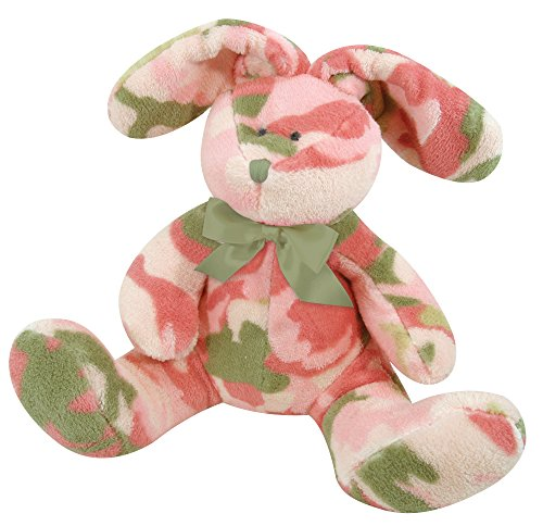 Camo Bunny (Stephan Baby Super-Soft and Huggable Plush Toy, Bunnie/Pink Camo Print, 9