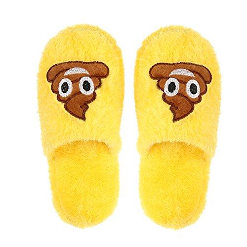 Imymax Unisex Emoji Cute Cartoon Slippers Warm Cozy Soft ...