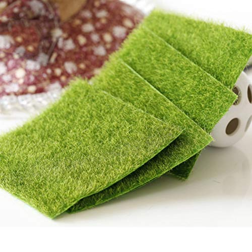 Party DIY Decorations - 15x15cm Garden Simulation Plants Mini Artificial Fake Moss Decorative Lawn Turf Green Grass Micro - Attachments Microphone Hanging Potter Rose Harry Adapter Jewelry Home ()