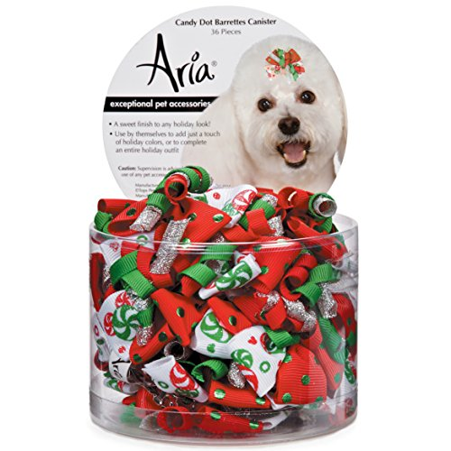 Aria Candy Dot Barrette Canister Dog Barrettes Canister