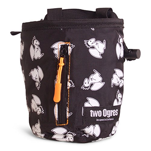 two Ogres Basique v2 Climbing Chalk Bag with Belt and Zippered Pocket for Climbing
