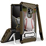 Galaxy S9 Plus/Galaxy S9+ Case, Trishield Durable Shockproof High Impact Rugged Armor Phone Cover with Kickstand for Samsung S9+ Only Printed Baseball Line