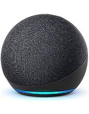 Echo Dot (4e generatie) Internationale versie   Smart luidspreker met Alexa   Antraciet   Nederlandse taal niet beschikbaar
