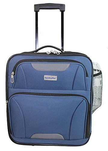 Boardingblue Airlines Rolling Personal Item Under Seat Mini Luggage 16.5 Navy
