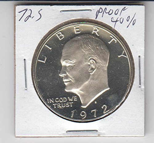 - 1972 S Eisenhower (IKE) Dollar - Proof- 40% Silver Coin $1 Uncirculated