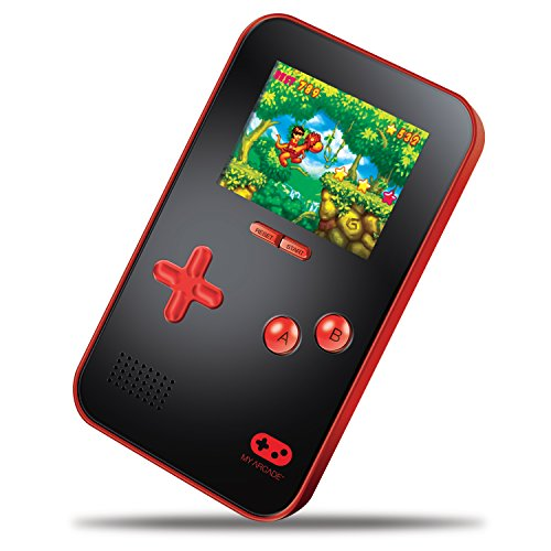 """My Arcade GoGamer Portable Gaming System with 220 HiRes 16 bit Retro Style Games & 2.5"""" LCD Screen– Red/Black - Dreamgear Game Console Console"""
