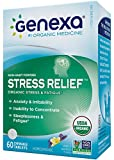 Genexa Stress & Anxiety Relief: Certified Organic, Physician Formulated, Homeopathic, Non-Habit Forming, Natural, Non-GMO Stress Supplement. Promotes Calmness & Relaxation (60 Chewable Tablets)