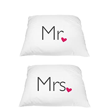 Amazon Wedding Pillowcases Mr Mrs Luxury Soft Pillowcases
