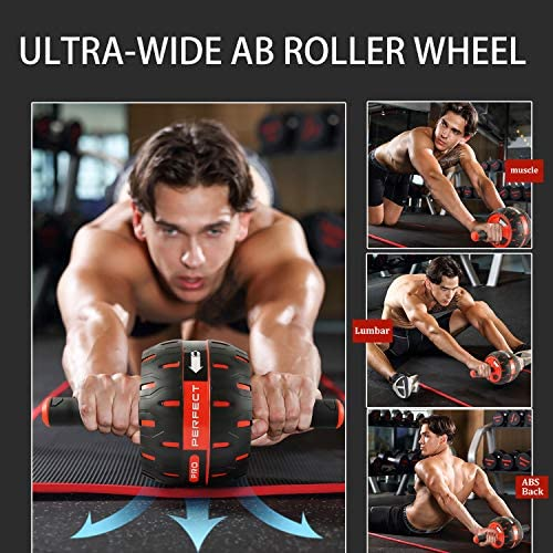 NANYNNU Ab Roller Wheel Abs Workout - Ab Roller Exercise Equipment,Ab Wheel Roller for Home Workout Equipment,Fitness Ab Roller for Core Workouts,Home Abdominal Exercise Equipment for Man and Women 5