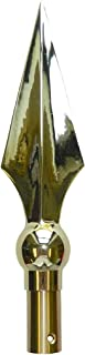 """product image for Gettysburg Flag Works Gold Brass Flat Spear for Indoor or Parade Flagpole Finial Topper with Ferrule (10"""")"""