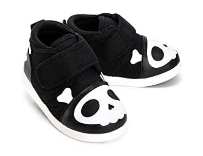 5207d8cfd ikiki Skull Squeaky Shoes for Toddlers w/Adjustable Squeaker, Black Girl or  Boy Shoes