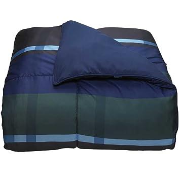 hampton plaid navy twin xl comforter for college dorm bedding