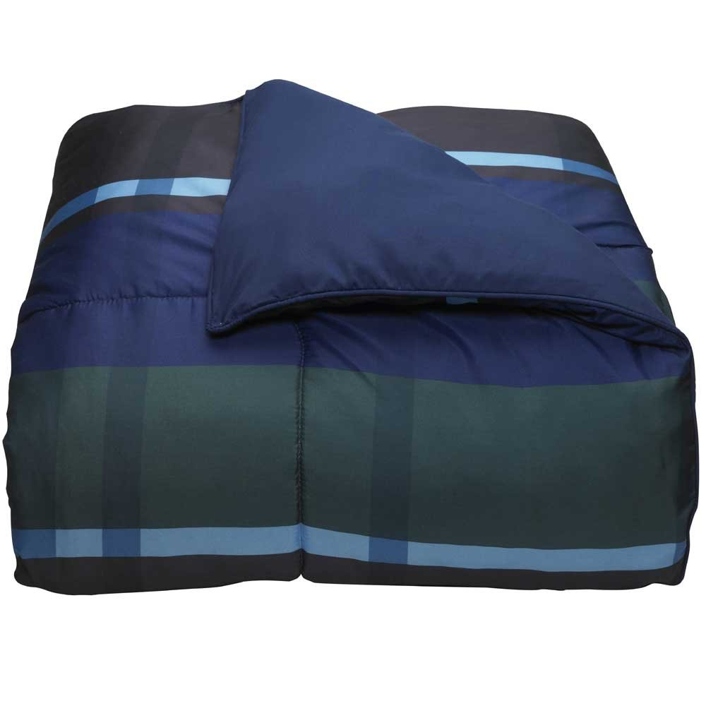Campus Linens Hampton Plaid Navy Full XL Comforter for College Dorm Bedding