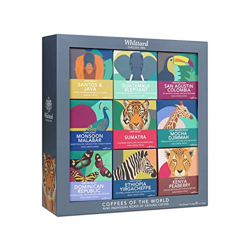 Whittard of Chelsea   Coffees of The World Gift Set   Suitable for Vegans & Vegetarians   Ideal Coffee Gift Set   9 x…