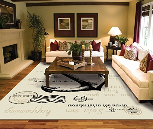 Large Rugs for Living Room 8x10 Ivory Clearance Area Rugs 8x10 Under 100