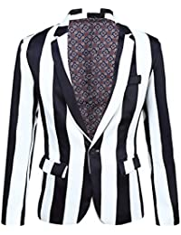 Mens Fashion Colorated Floral Print Suit Jacket Casual Blazer