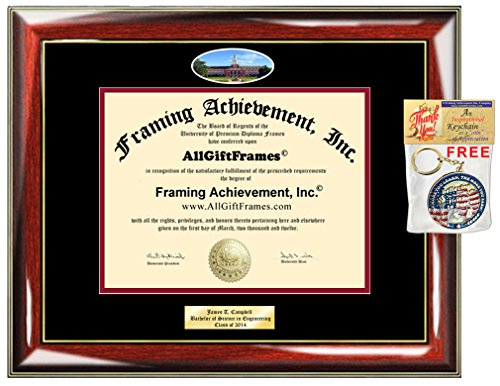 Diploma Frame OSU Oklahoma State University Graduation Gift Idea Engraved Picture Frames Engraving Degree Certificate Holder Graduate Him Her Nursing Business Engineering Education School by AllGiftFrames
