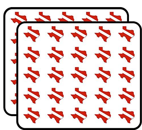 Texas Shaped Scuba Dive Flag (Diving sc) Sticker for Scrapbooking, Calendars, Arts, Kids DIY Crafts, Album, Bullet Journals