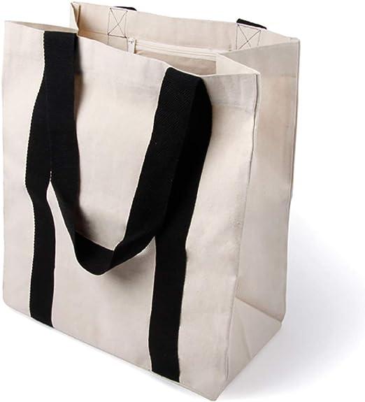 BagCouture Elegante Bolsa de Transporte espaciosa, Bolsa de algodón, Bolsa de la Compra, Bolso con Gran Base y asa Larga, 1 Pieza: Amazon.es: Hogar