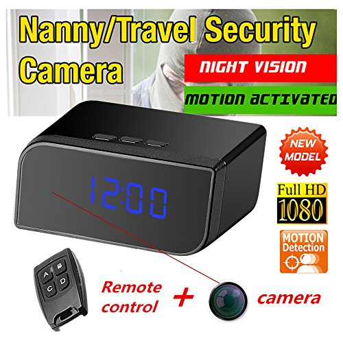 Mini Spy Video Cameras (1080P HD Spy Hidden Camera Clock Motion Activated Video Recorder Mini DVR)