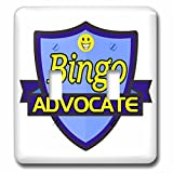 Dooni Designs – Funny Sarcastic Advocate Designs - Bingo Advocate Support Design - Light Switch Covers - double toggle switch (lsp_242495_2)