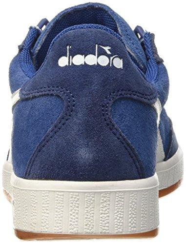 Diadora B.Original, Sandalias con Plataforma Unisex Adulto Azul / Blanco
