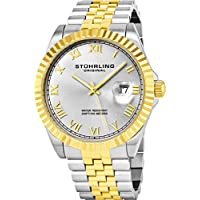 Stuhrling Original Men's 599G.04 Analog Swiss Quartz Two-Tone Link Bracelet Watch