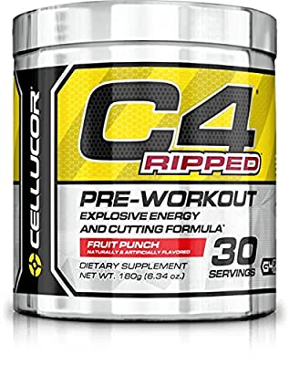 Cellucor C4 Ripped Pre Workout Thermogenic Fat Burning Powder