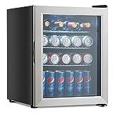COSTWAY Beverage Refrigerator Portable Mini Beer Wine Soda Drink Beverage Cooler Black (52 Can)