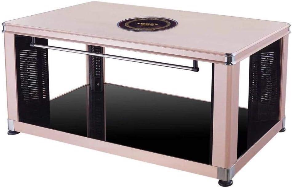 Mesa de calefacción eléctrica inteligente con estufa de cerámica eléctrica mesa de calefacción rectangular mesa de café de calefacción eléctrica hogar calentador de estufa de invierno dorado 1380