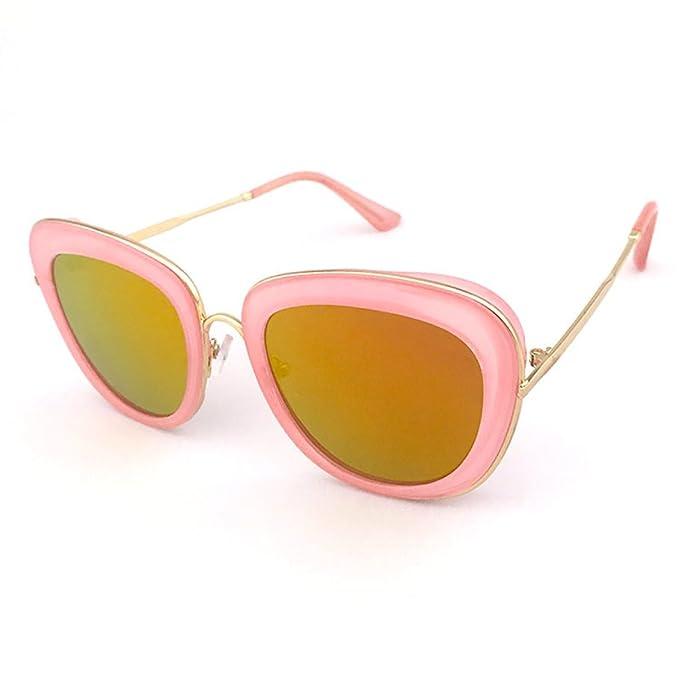 Wkaijc Trend Bunt Personalisiert Flach Frauen Kreativ Retro Komfort Mode Sonnenbrillen Sonnenbrillen ,A