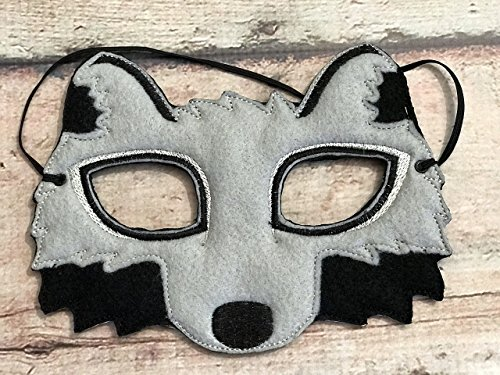 Gray, Felt Wolf Mask (Handmade Pig Mask)