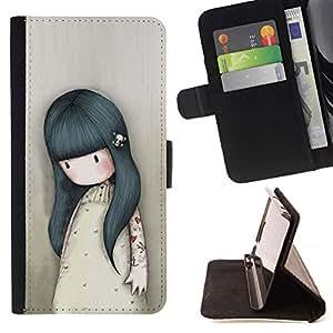 Momo Phone Case / Flip Funda de Cuero Case Cover - Madre Mamá Niños Dibujo triste Profundo - HTC One M7