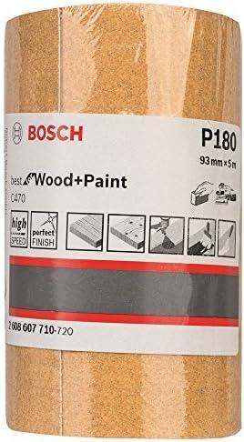 Bosch Professional 2608607707 Wood 93mm x 5m Roll G60 93 mm x 5 m Yellow
