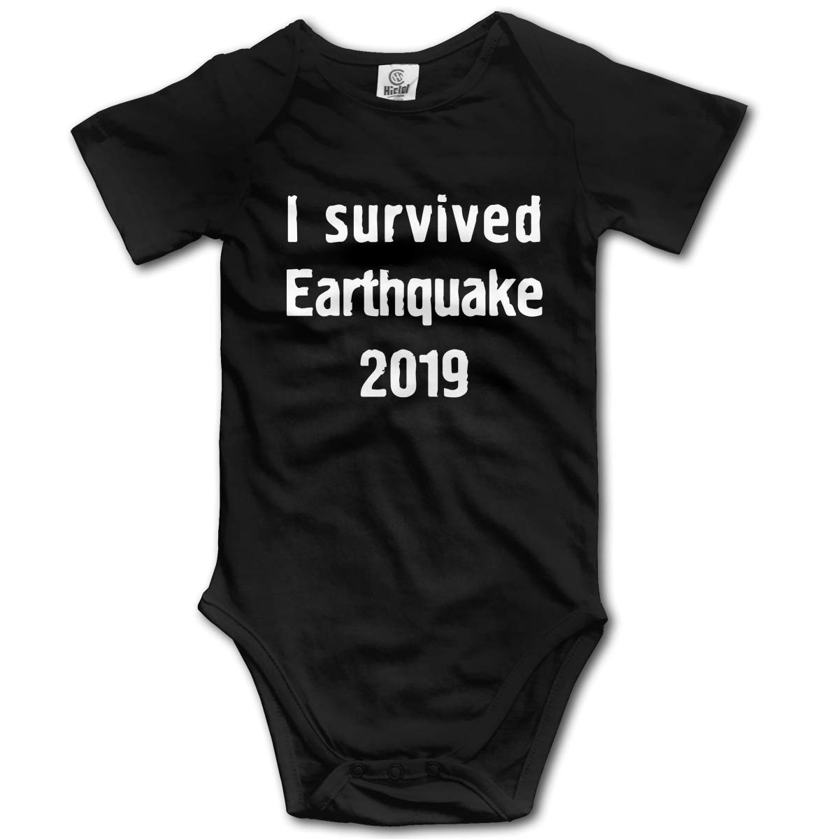 I Survived Earthquake 2019 Newborn Infant Baby Short Sleeve Outfits Sunsuit Clothes 0-24M