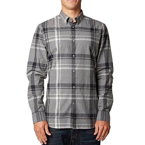 (Fox Racing Mens Maximus Woven Button Up Long-Sleeve Shirt, Graphite, Small)