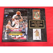 J & C Baseball Clubhouse LeBron James Cavaliers 2 Card Collector Plaque w/8x10 Photo YOUNGEST TO SCORE 30,000 CAREER POINTS