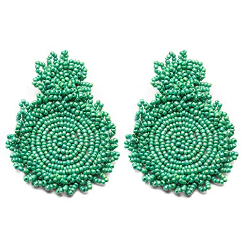 Rianne Beaded Drop Earrings Bohemian Beaded Round Dangle Earrings Mother's Day Gift For Mom 2019