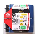 2 Packs Black Blue 1'' Hybrid Notebinders 11 1/2 X 10 3/4 inch by Whops Shop
