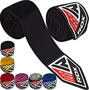 RDX Boxing Hand Wraps Inner Gloves, 4.5 Meter 180 Inches Elasticated Thumb Loop Bandages, Under Mitts Wrist Ha