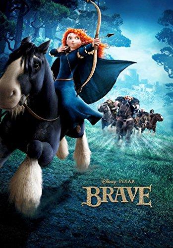 - Brave (2012) - Horse - 13 in x 19 in Movie Poster Flyer BORDERLESS + Free 1 Tile Magnet