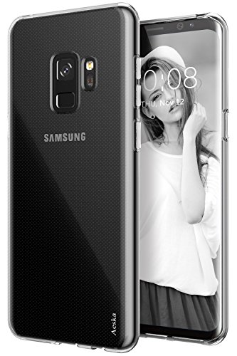 Galaxy S9 Case, Aeska Ultra [Slim Thin] Flexible TPU Gel Rubber Soft Skin Silicone Protective Case Cover for Samsung Galaxy S9 (Clear)
