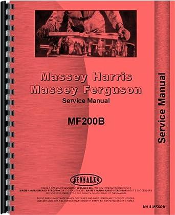 Massey Ferguson 200 200B Crawler Service Manual MH-S-MF200B