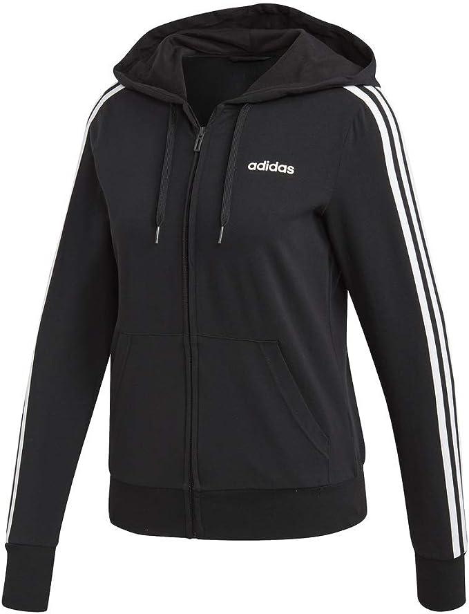 adidas Damen Essentials 3 Stripes Single Jersey Full Zip
