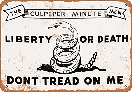 Wall-Color 7 x 10 Metal Sign - Don't Tread on Me Culpeper Minute Men - Vintage Look ()