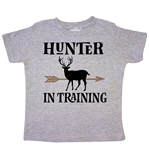 inktastic Hunter In Training Hunting Toddler T-Shirt 3T Heather Grey 2de6a