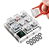 Griarrac Cherry MX Switch Tester Mechanical Keyboards 9-Key Switch Testing Tool, with Keycap Puller and O Rings
