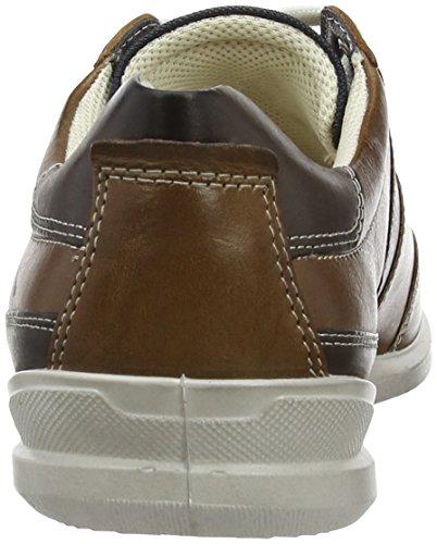 Ecco Chander - zapatos con cordones de piel hombre multicolor - Mehrfarbig (Walnut/Marine/White/Coffe A/F/F/58987)